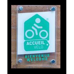 Plaque Plexi Accueil à Vélo