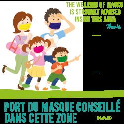 Sticker Masque Conseillé