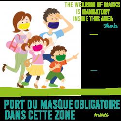 Sticker Masque Obligatoire