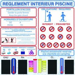 Réglement Piscine + Mesures
