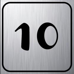 Numérotation Dibond Alu Brossé