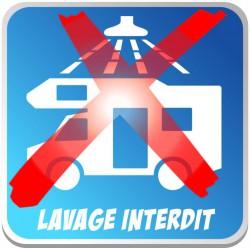 Lavage Camping Car Interdit