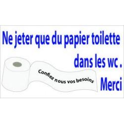 Panneau Papier WC Humour