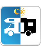 Catégorie Aires de Camping Car - A Vos Panneaux - Signalétique Hôtel et Camping : Camping Car Jour Nuit , Aire Camping Car Ea...
