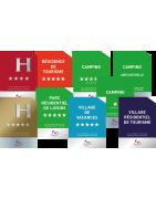 Catégorie Plaque de Classement - A Vos Panneaux - Signalétique Hôtel et Camping : Panonceau de Classement Hôtel , Panonceau d...